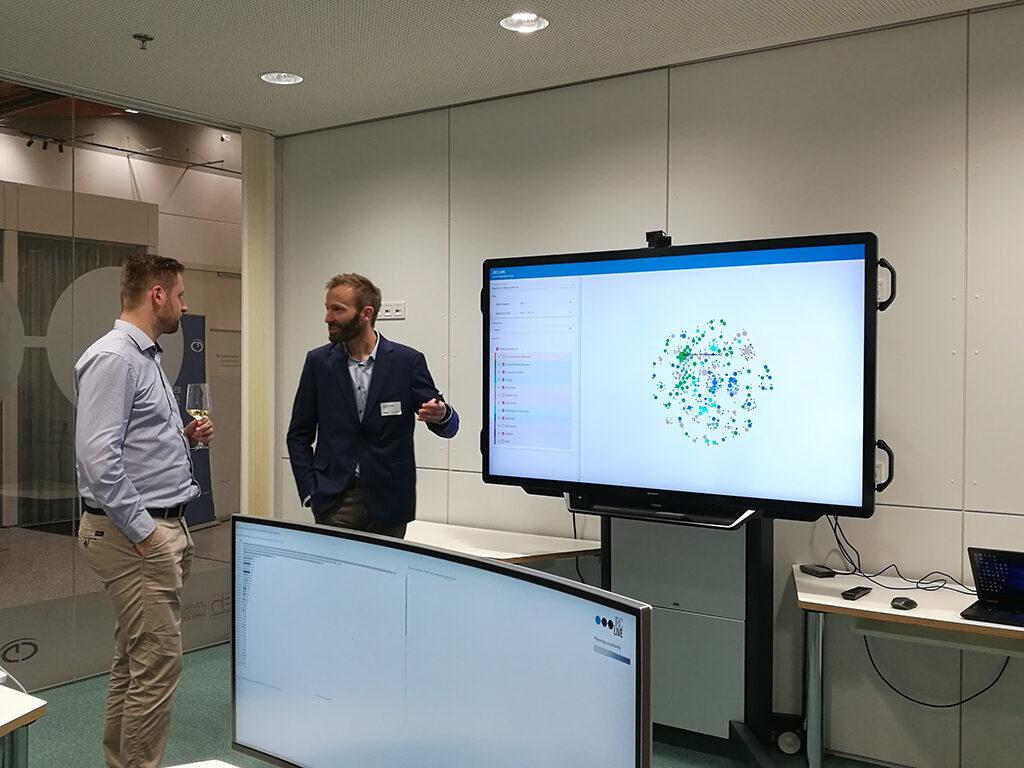 Interaktiver Prototyp bei JRC live Eröffnung Eberstalzell